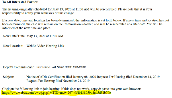 Sample Hearing Notice | Virginia Workers' Compensation ...